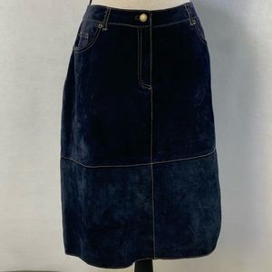 Isaac Mizrahi genuine sueded leather skirt